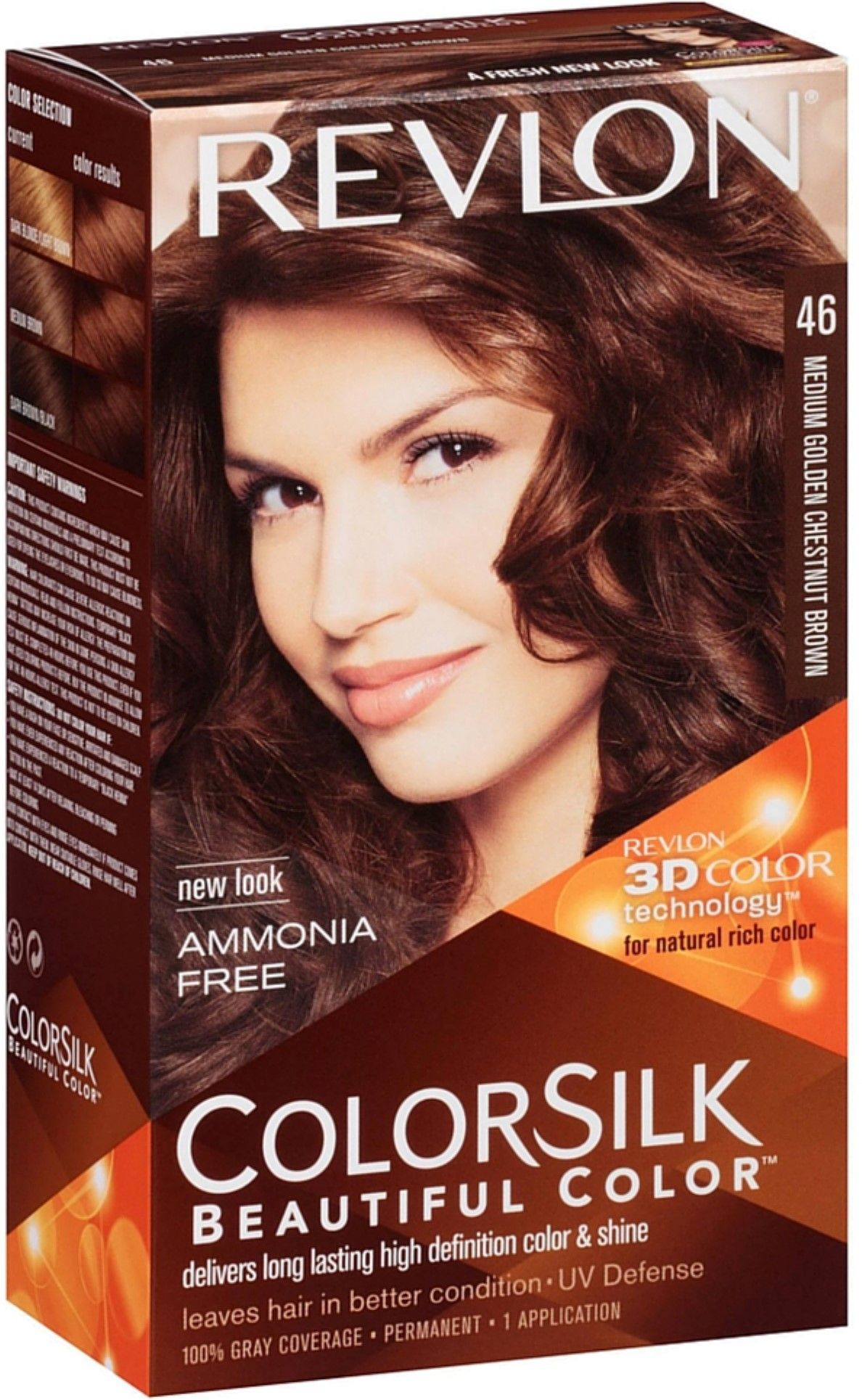 Revlon Colorsilk Beautiful Color Medium Golden Chestnut 46 1 Ea