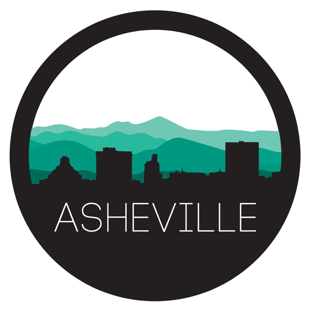 Asheville Circle Skyline Tattoo Cooler Design