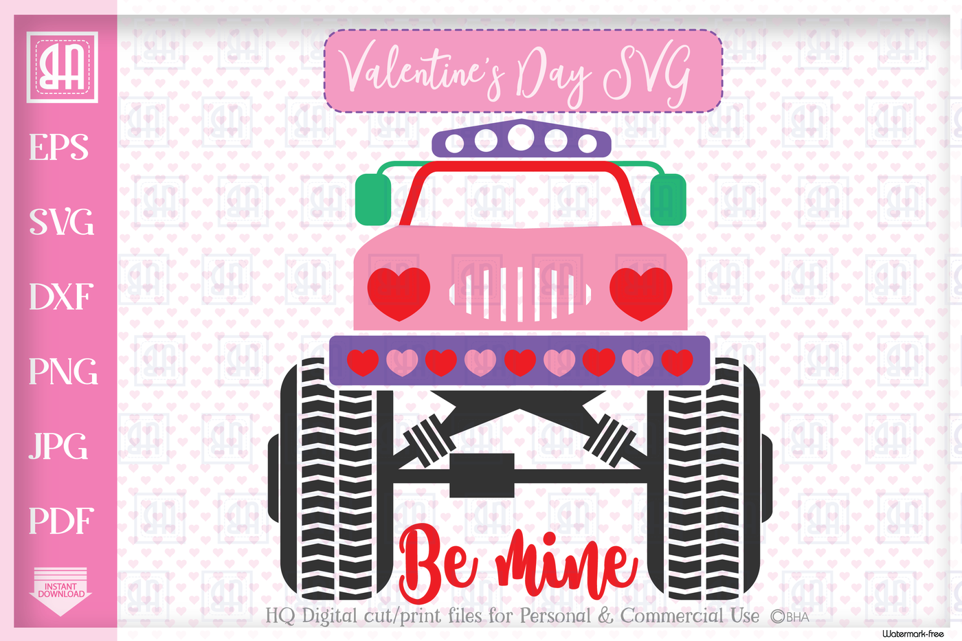 Valentine's truck svg Valentine's day Truck bundle mini