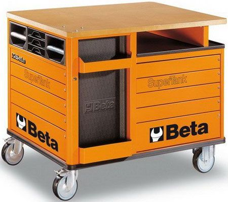 Beta Super Tank Trolley With Worktop And Drawers Garage Tools Tool Room Home Workshop