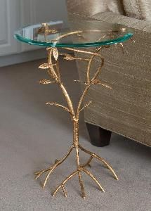 Antique Gold Leaf Branch Side Table From Www Wellappointedhouse