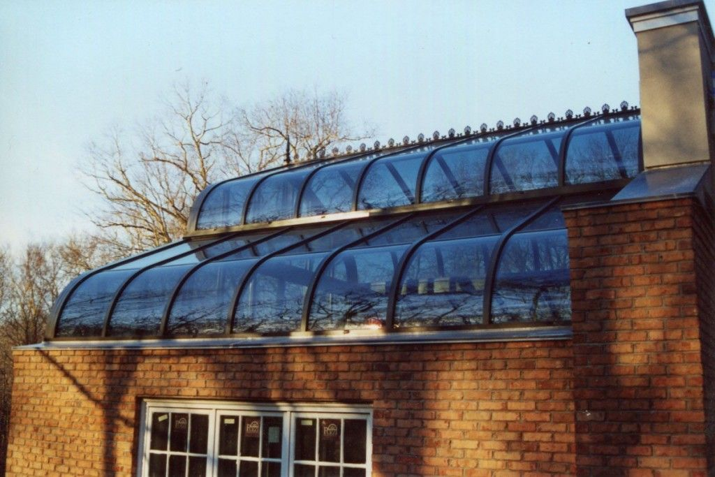 Double Curved Glass Roof System Glass House Llc Glass Roof Roofing Systems Curved Glass