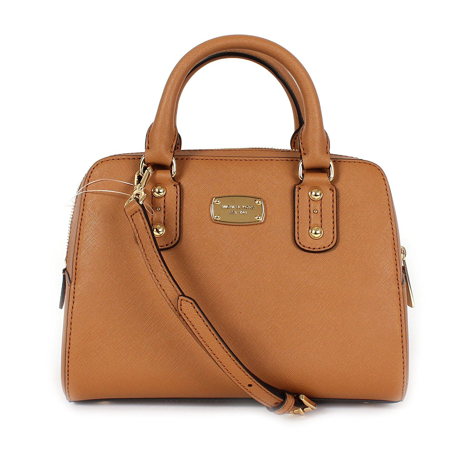 Michael Kors Saffiano Leather Small Satchel Crossbody Bag * Review more  details here - amazon affiliated