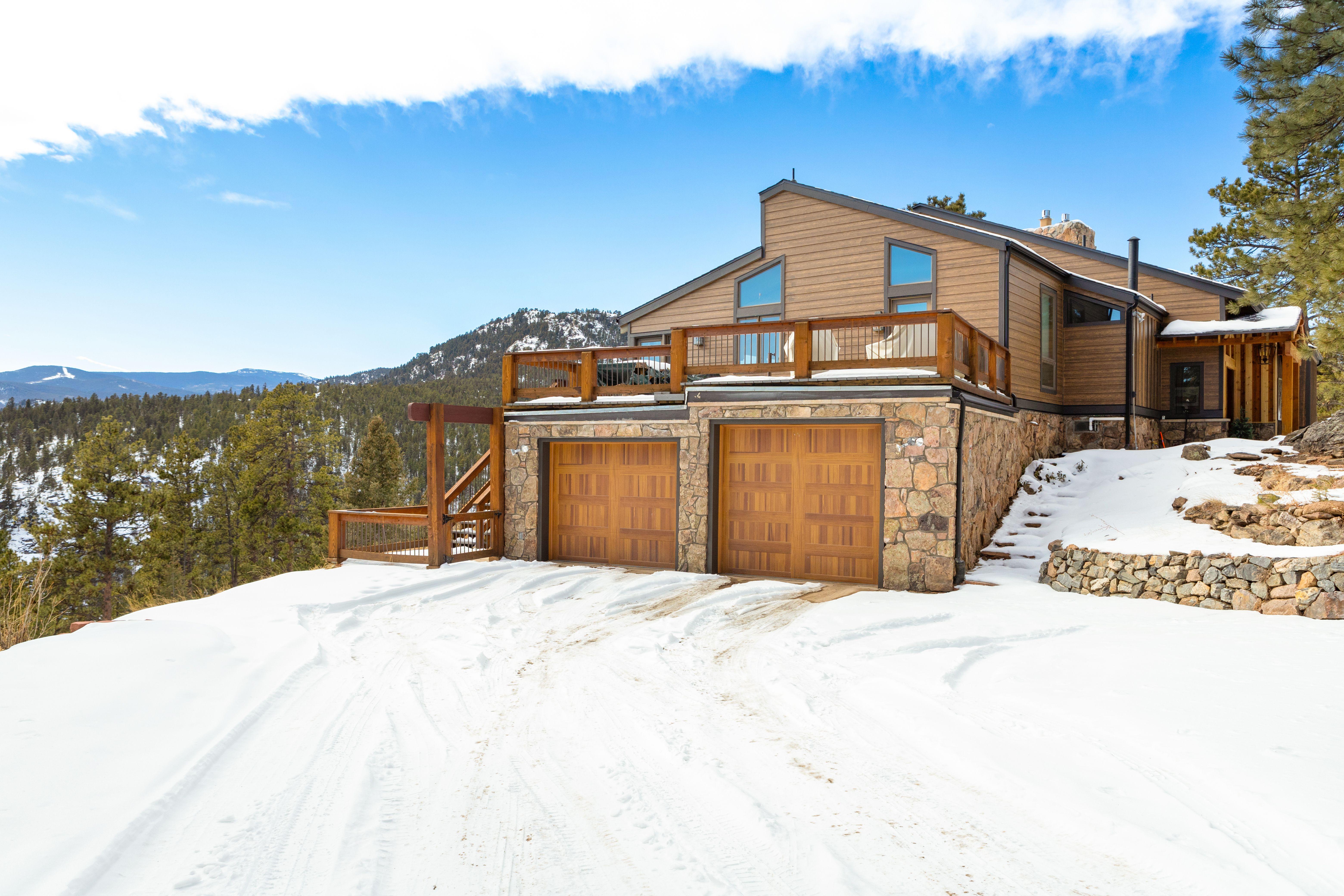 Stunning Colorado Landscape Featuring Woodtone Fiber Cement Exterior Hardie Shingle Siding Vinyl Siding Installation Siding