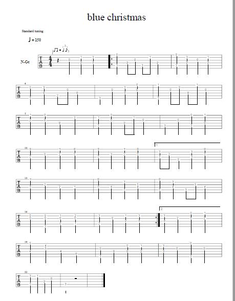Blue Christmas Fingerpicking Elvis Guitar Tab Free Pdf Guitar Sheet Music Download Elvis Guitar Guitar Tabs Guitar Sheet Music