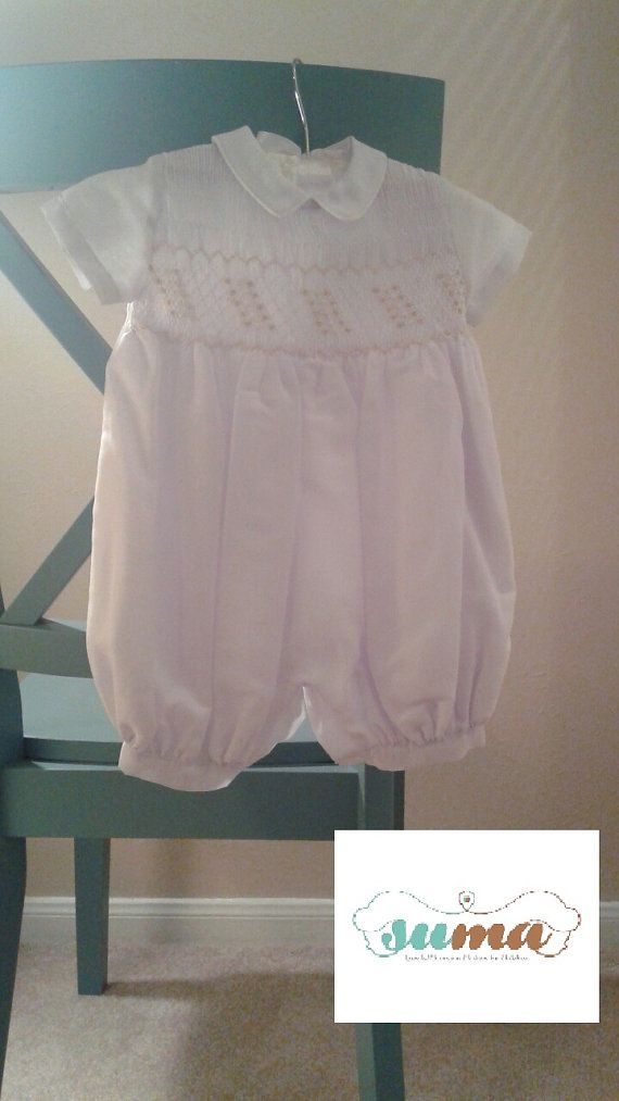29c3e9234 White Christening baby boy outfit with bonnet by SUMACLOTHES ...
