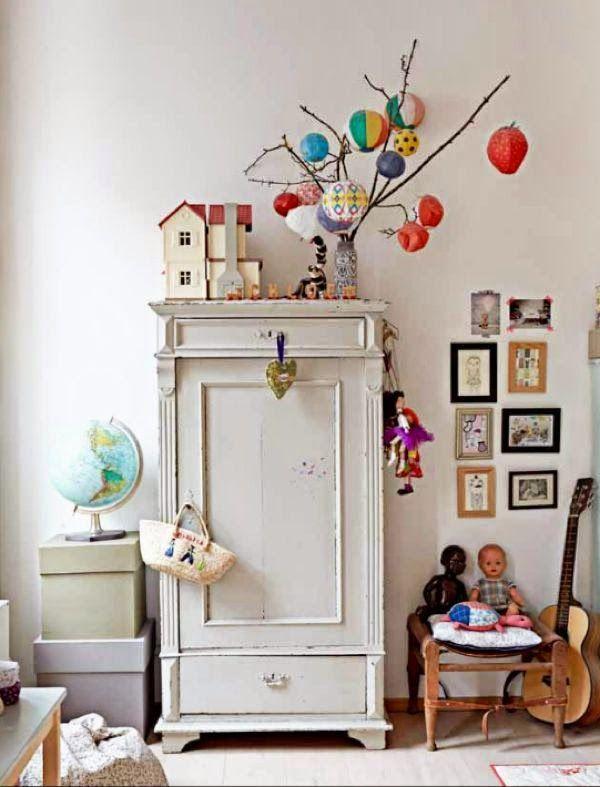 Lampionnenoptocht Kinderzimmer deko mädchen, Dekoration