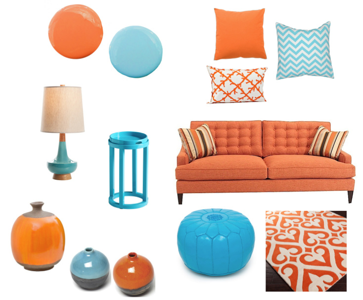 Turquoise And Orange Color Scheme Living Room Orange Living Room Wall Color Room Colors #orange #and #turquoise #living #room