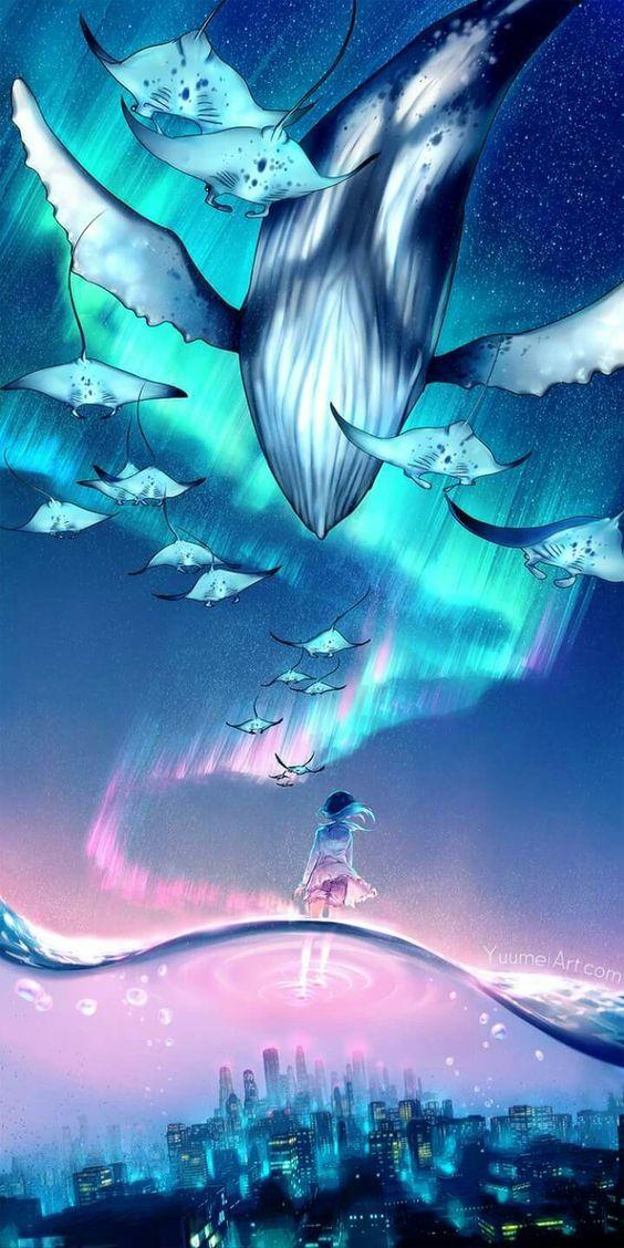 Pin Oleh Gihon Warner Di Anime Scenery Pemandangan Khayalan Ilustrasi Alam Seni Menggambar