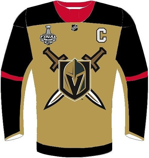 3f925dd2 Vegas Golden Knights gold 3rd jersey - Version 2 A much cleaner version I  used a