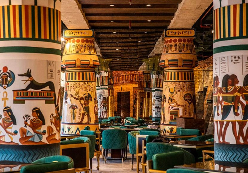 New Ancient Egyptian Restaurant Opens In Dubai S Al Seef Ancient Egyptian Architecture Egypt Design Egyptian Design