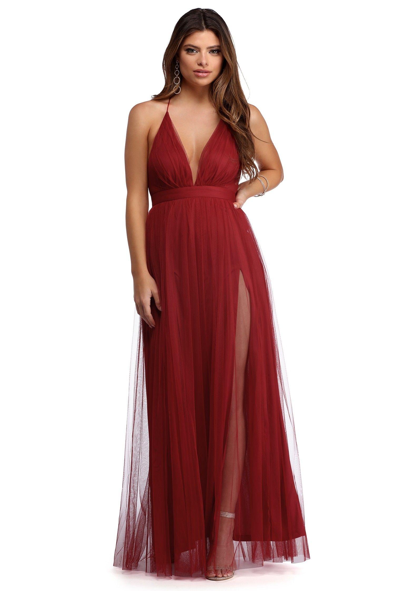 Elisabeth pleated tulle formal dress formal dresses