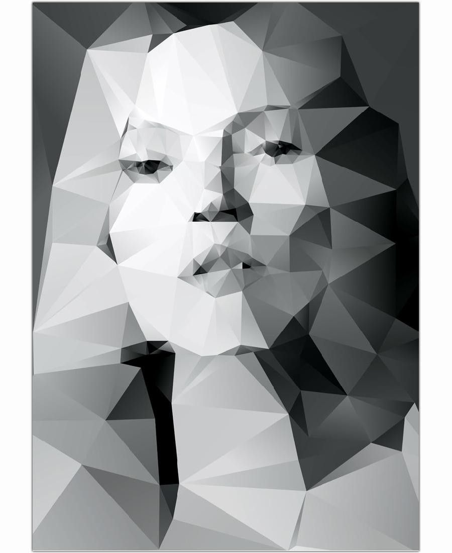 Beauty in pattern. Celebrity in black and white. Kate Moss by Three Of The Possessed now on  Juniqe.com | Art. Everywhere.
