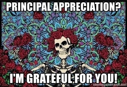 Principal Appreciation I M Grateful For You Grateful Dead Meme Generator Principal Appreciation Grateful Grateful Dead