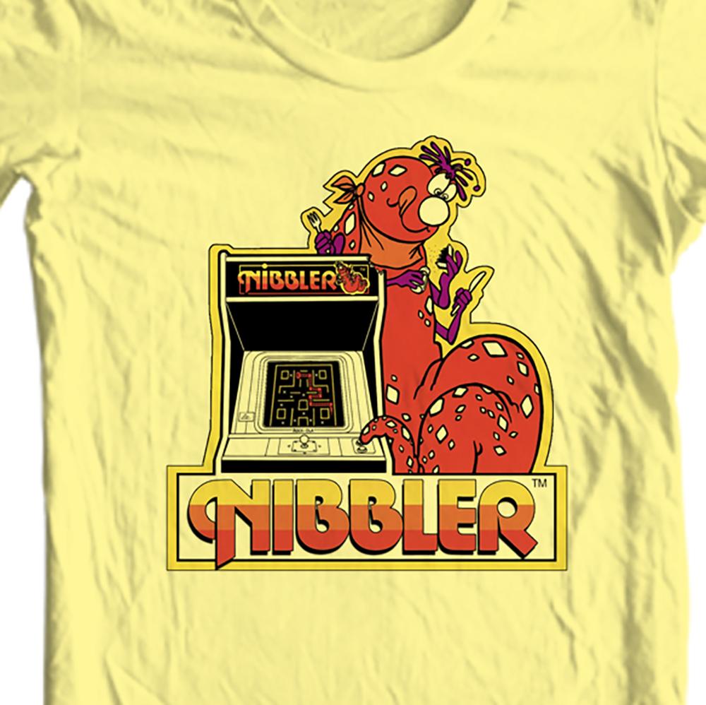 Nibbler Tshirt retro arcade video game 80's 100 cotton