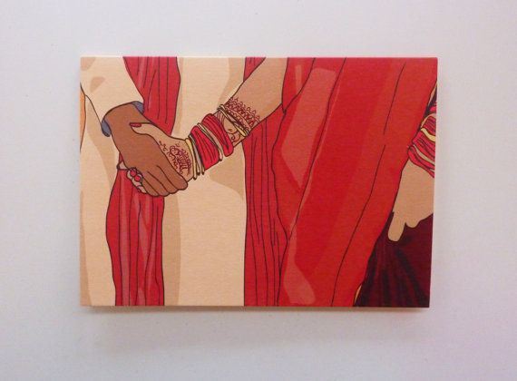Indian wedding greetings card traditional ceremony couple holding indian wedding greetings card traditional ceremony couple holding hands m4hsunfo