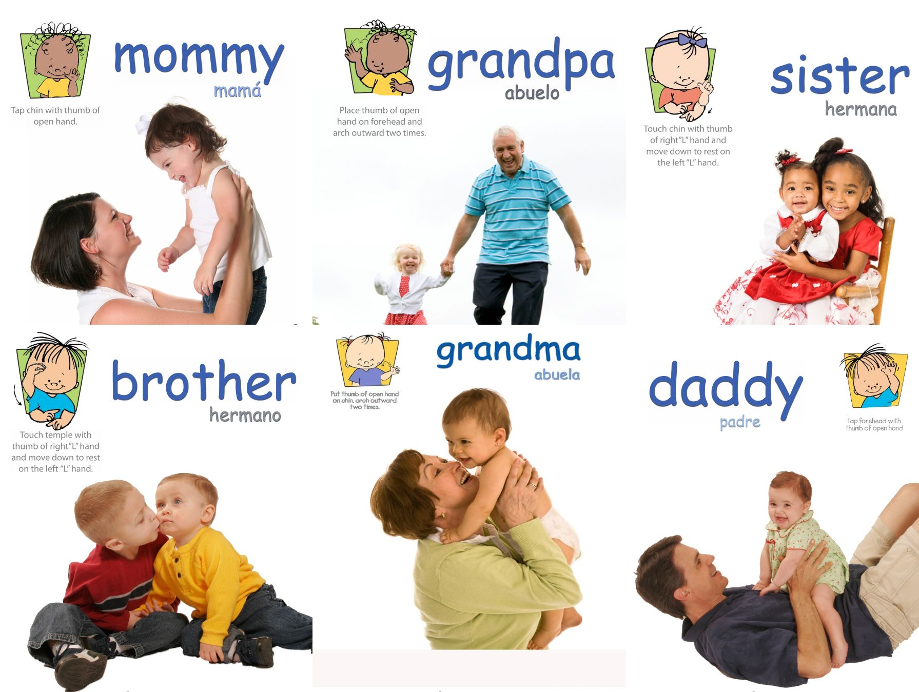 Family Signs Poster Pack Baby Signs Printable Poster Pack With Signs For Mommy Daddy Grandma