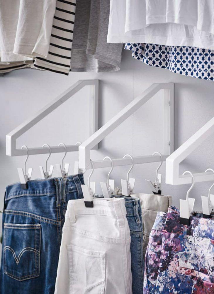 DIY Ideen zum Aufhängen der Kleider Kleiner