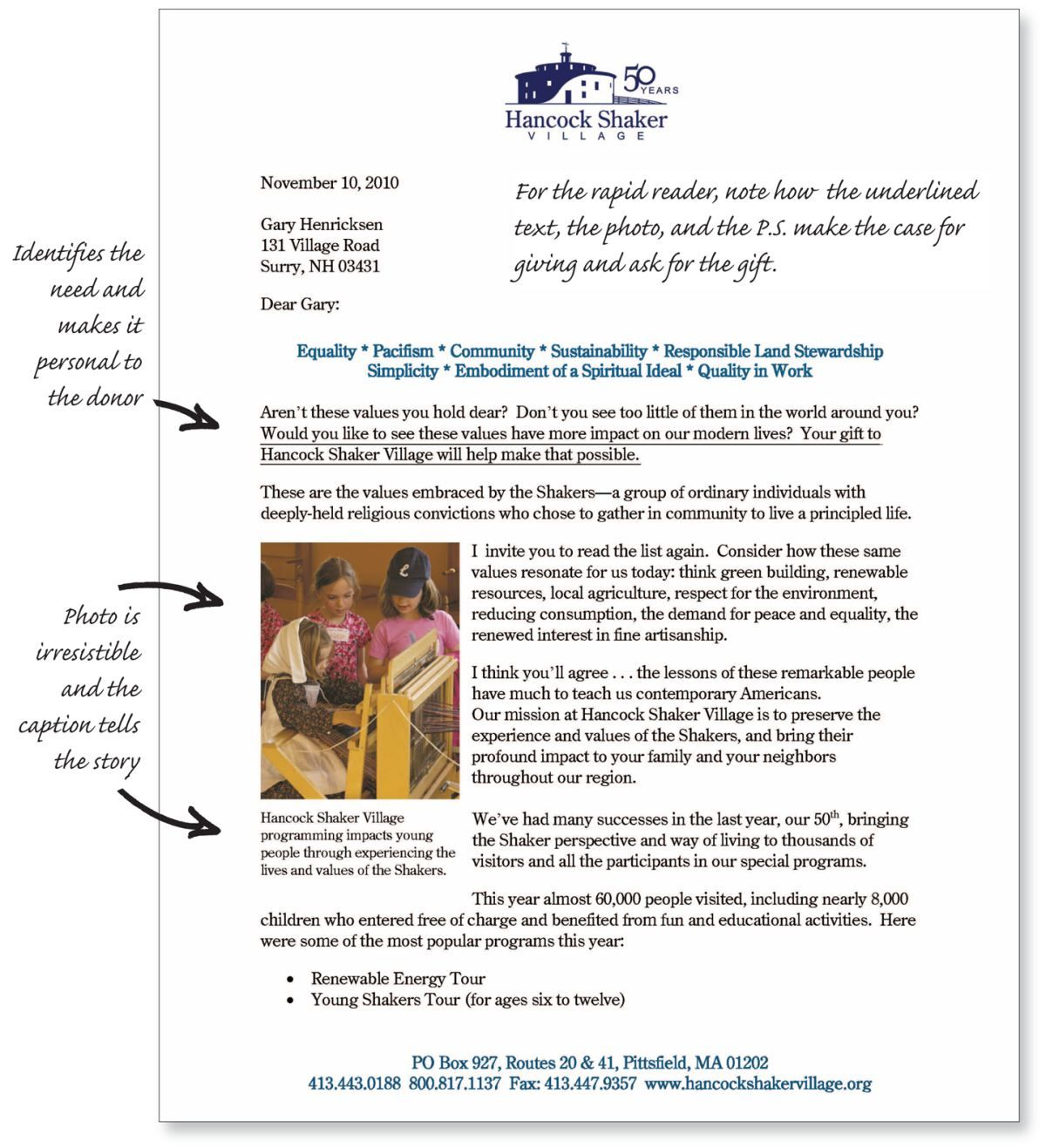 Donor Centric Fundraising Letter Pg 1 Direct Mail