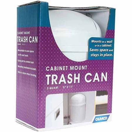 Camco Wall Mount Trash Can Camco Trash Bins Trash Can
