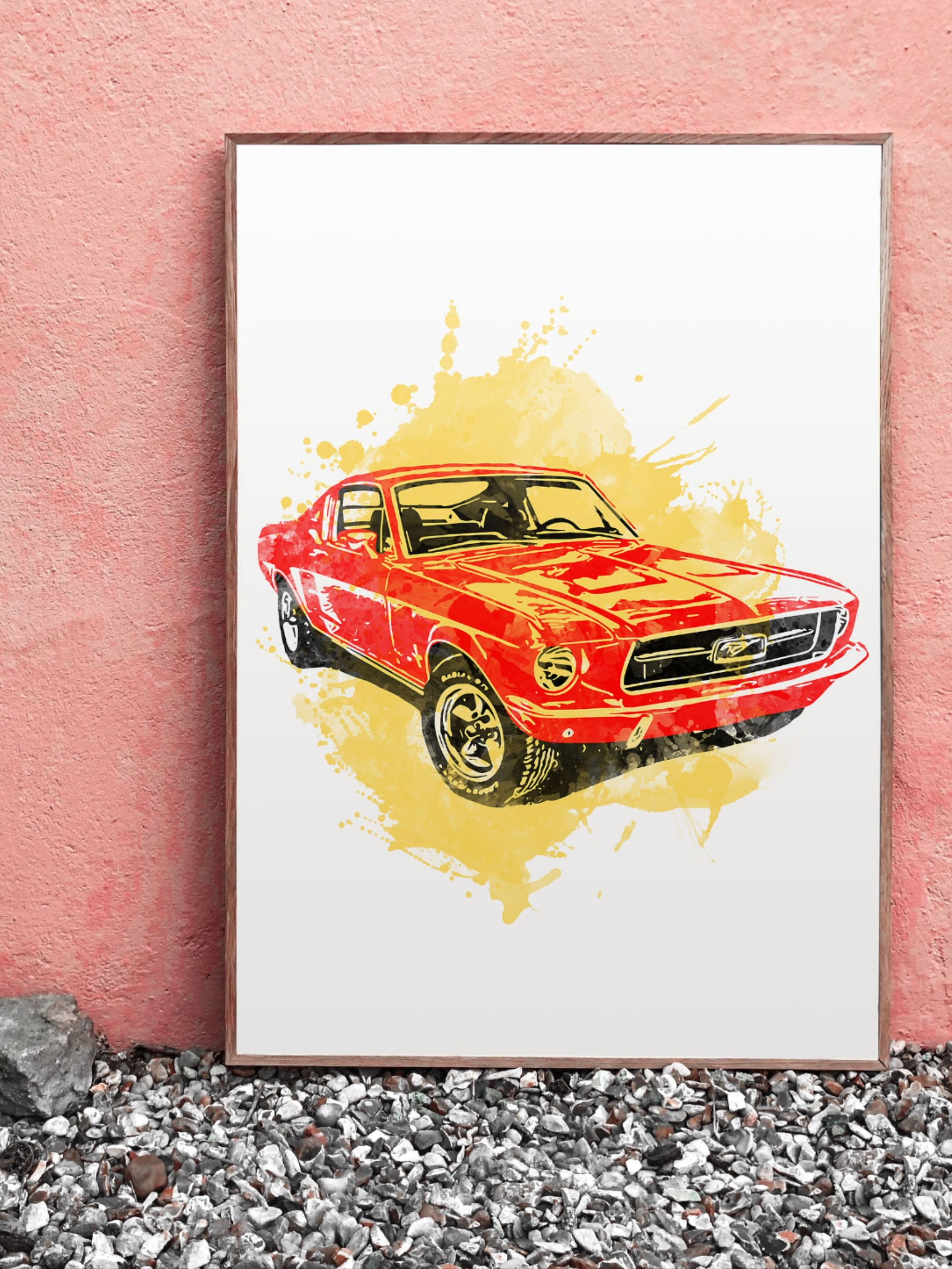 Ford Mustang Png Ford Mustang Print Ford Sublimation Etsy Printable Wall Art Mustang Graphic