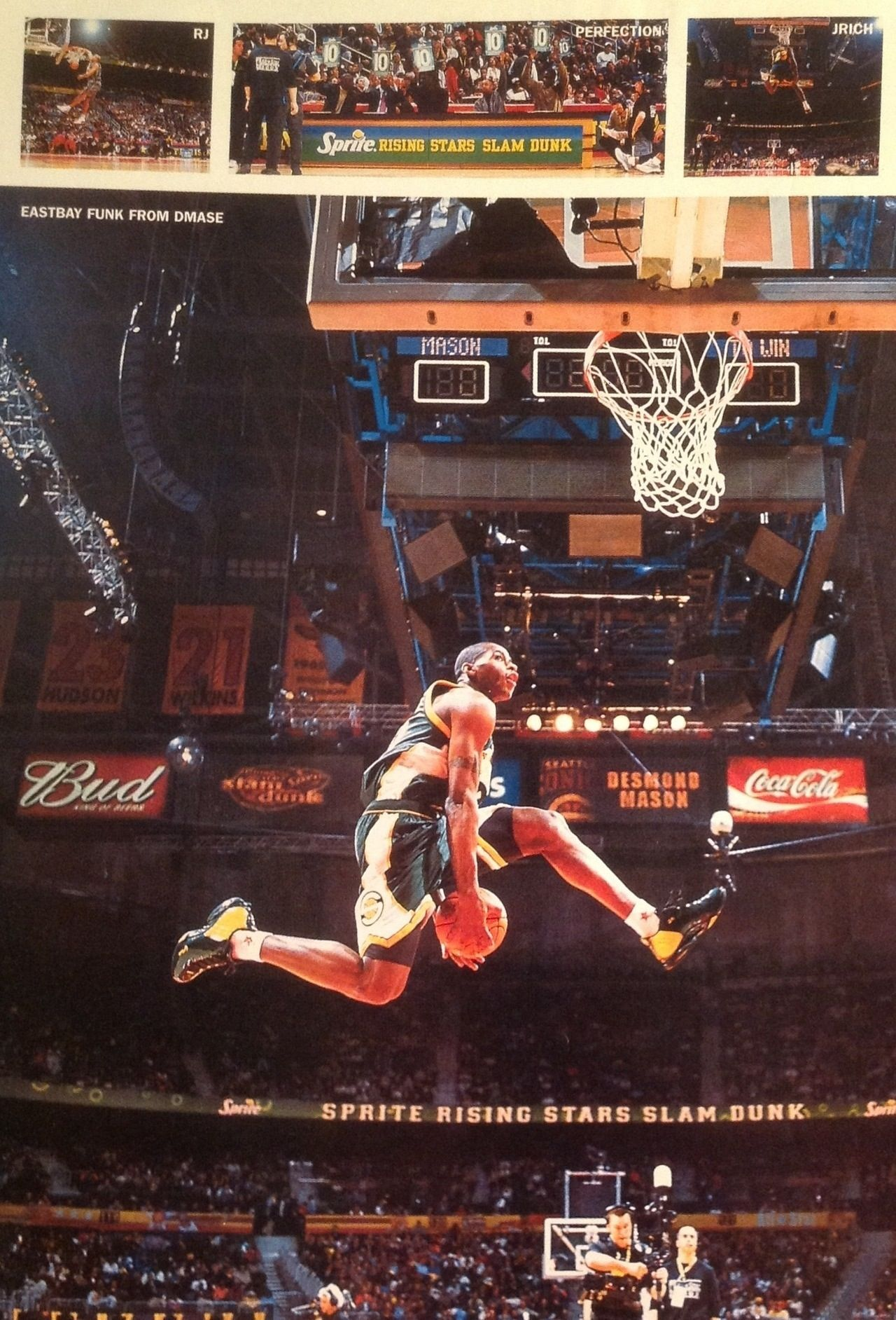 Desmond Mason Seattle Supersonics Slam Dunk Contest (With