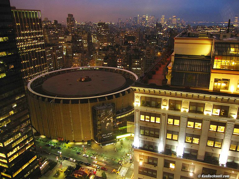 Madison Square Garden As Seen From The New Yorker Hotel 8 22 Pm