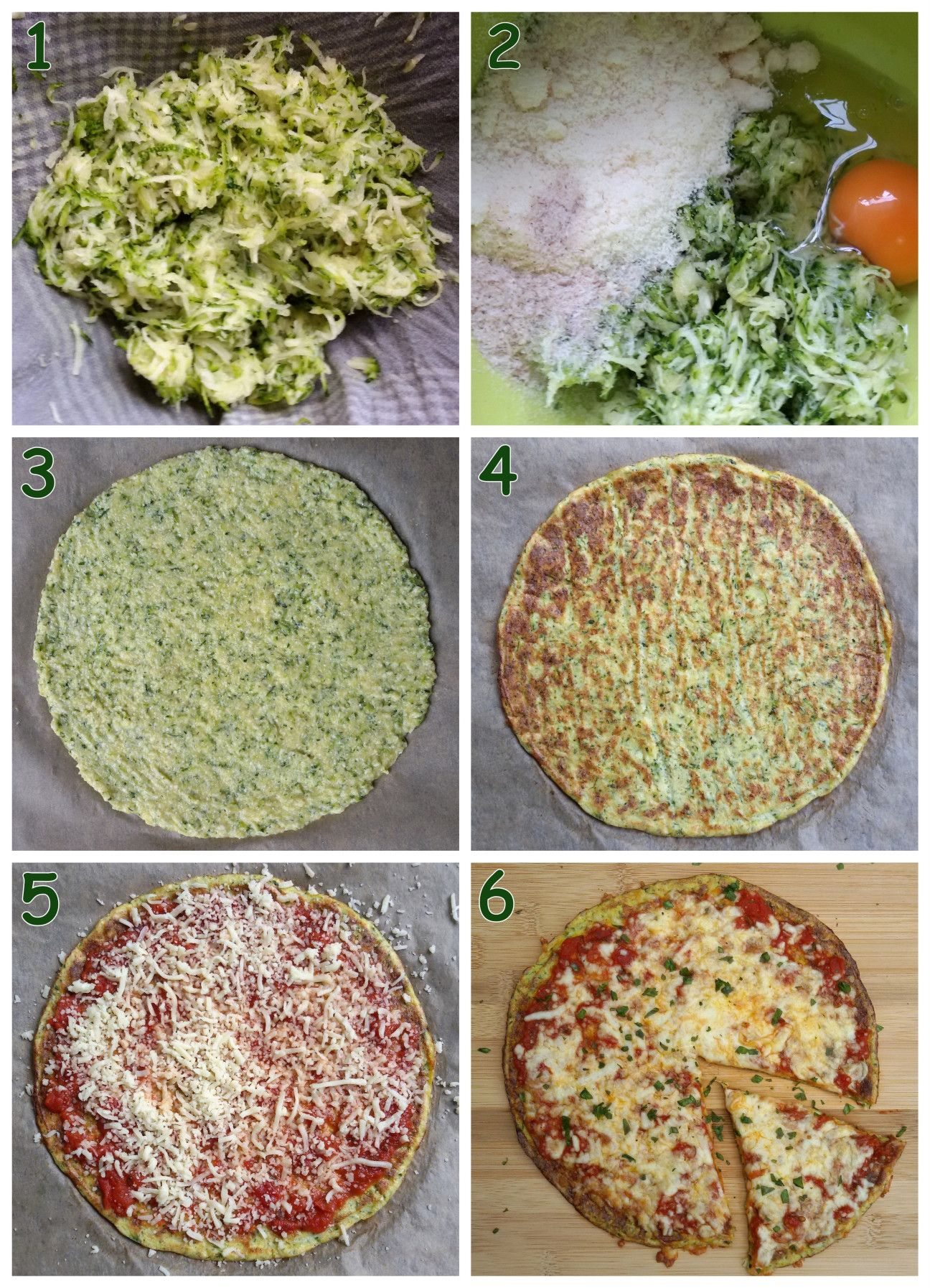 Pizza alle zucchine low carb vegetariana