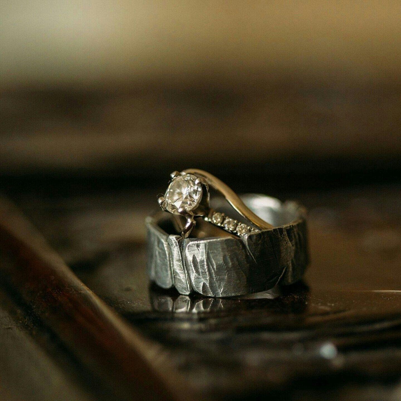 812mm Viking Wedding Ring / Men's Rugged Band / Silver