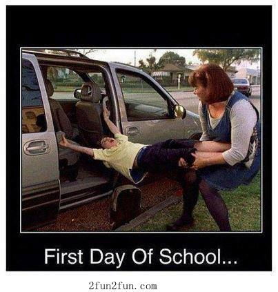 First day of school from an educator's point of view