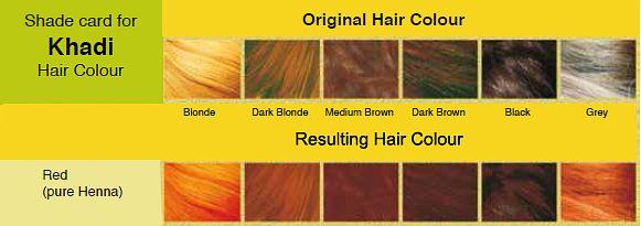 Khadi Pure Henna 100 Natural Hair Colour Colours Light Hair