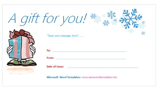 birthday gift certificate template