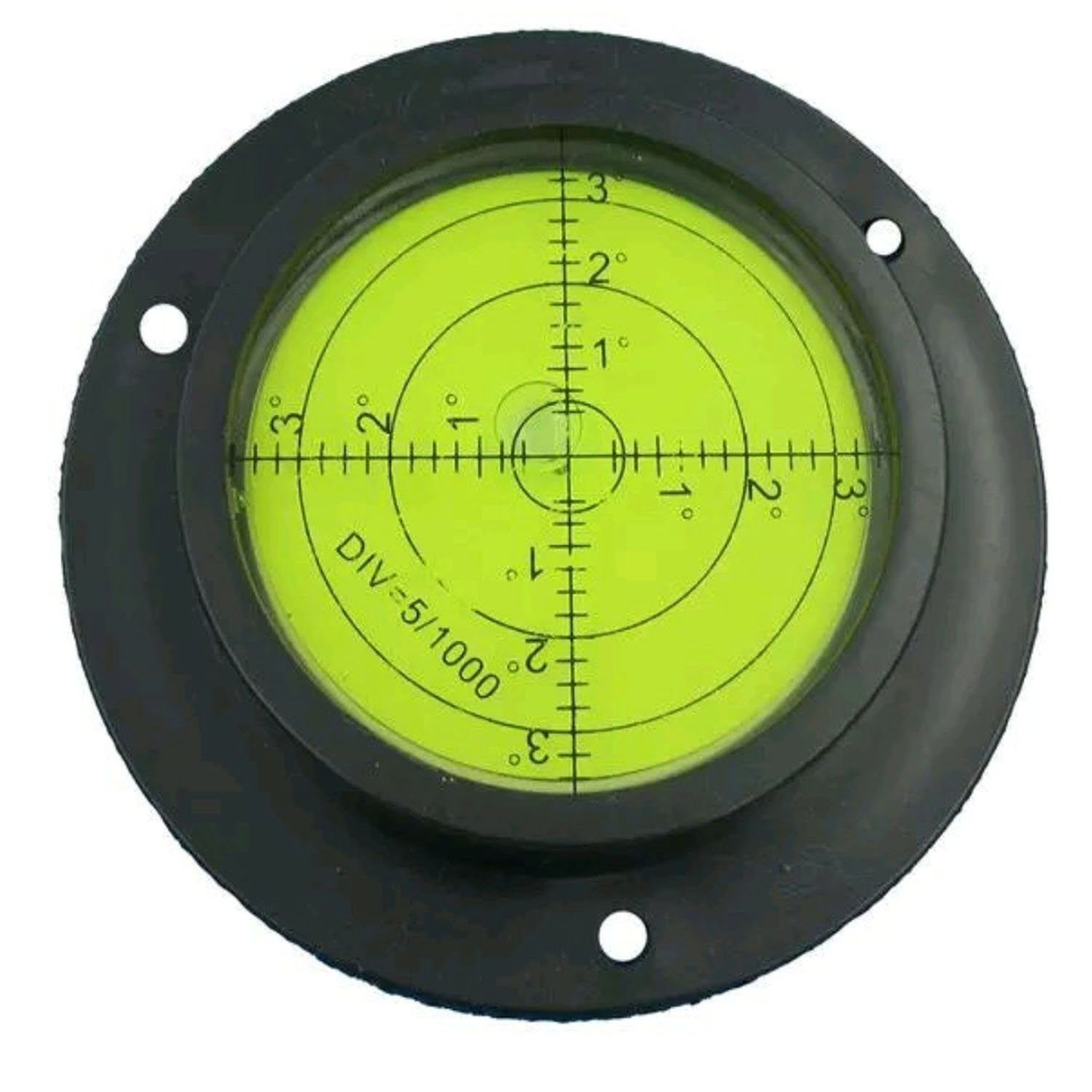 90mm Heavy Duty High Accuracy Bulls Eye Level Bubble Spirit Level Rv Black Green With Mounting Holes Bubbles Energy Efficient Buildings Rv