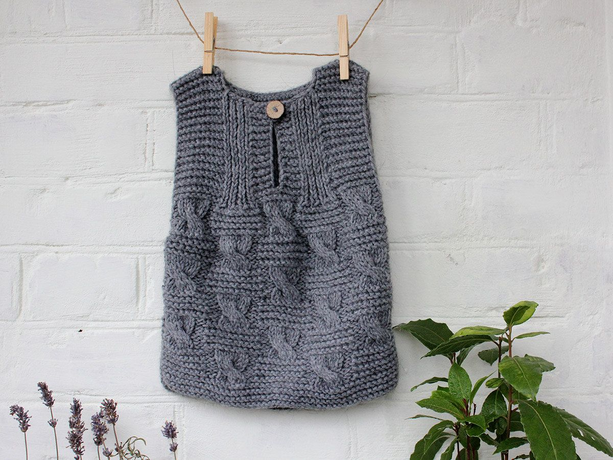 b84a99348ba0 Baby Vest Hand Knitted Wool Baby Boy Baby Vest Baby Cable Knit ...
