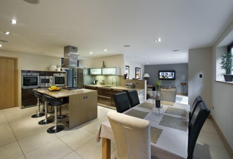 Aménager une cuisine ouverte sur salle à manger Open kitchen and