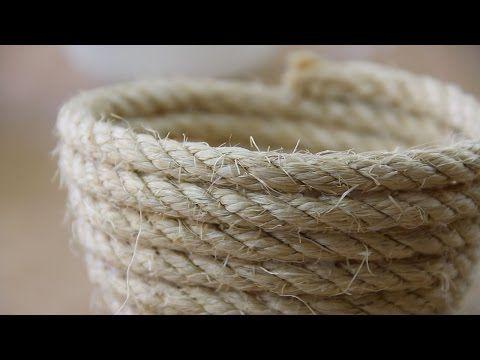 Cómo hacer un cuenco con una cuerda - YouTube