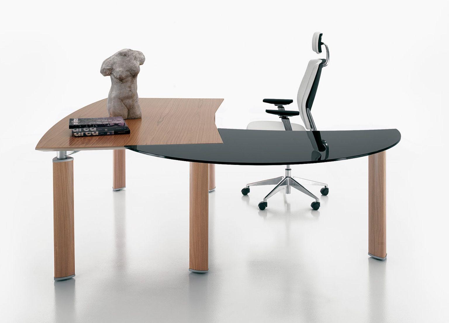 Scrivania Ufficio Sagomata : Scrivanie per ufficio conforama