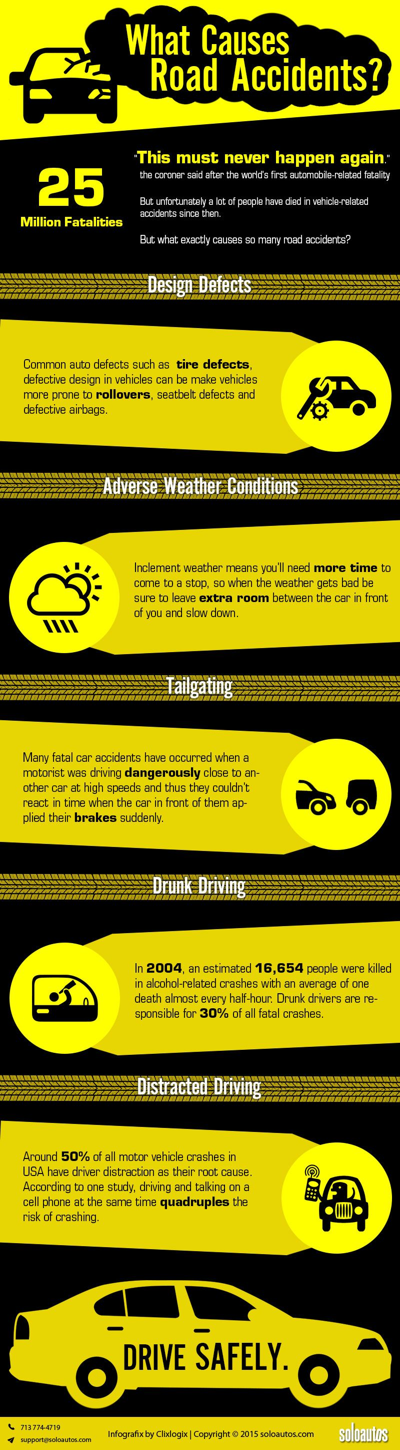 What Causes Road Accidents? infographic Safe driving