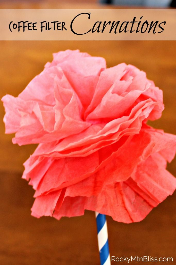These Coffee Filter Carnations are the cutest decoration for this spring, and they are super easy to make.