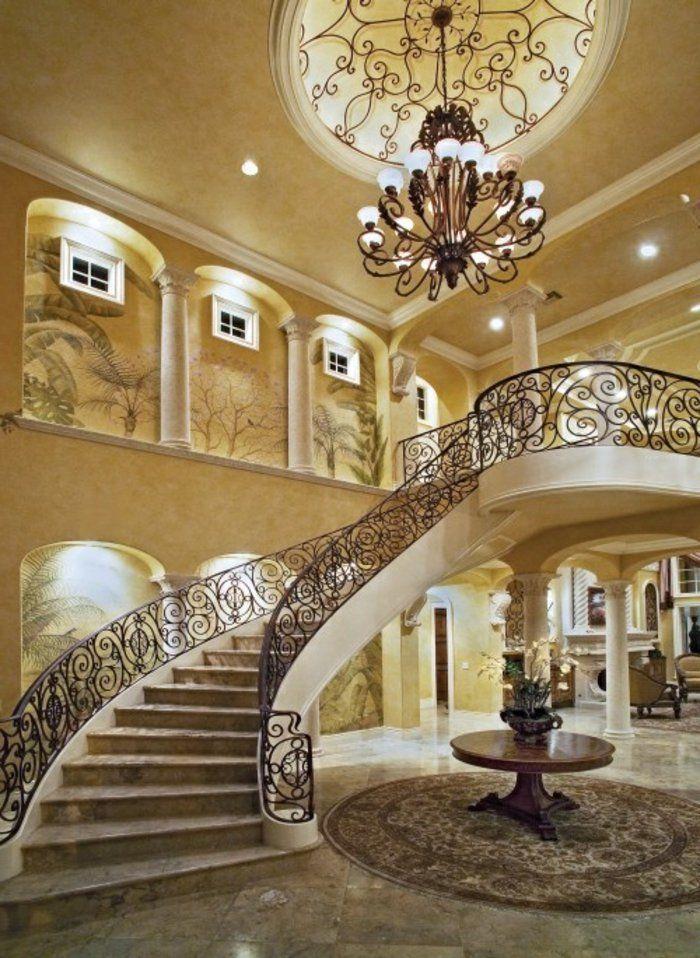 l 39 escalier tournant en 40 jolies photos escalier quart tournant baroque et lustre. Black Bedroom Furniture Sets. Home Design Ideas