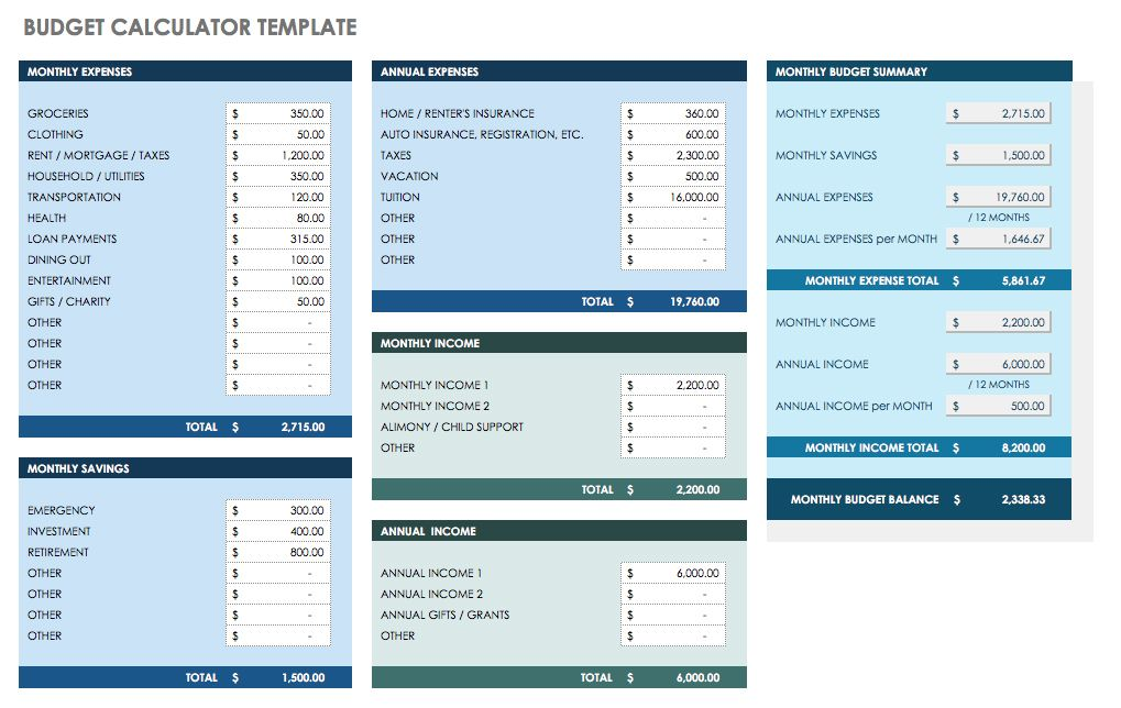 Free Monthly Budget Templates  Smartsheet  Bullet Journal