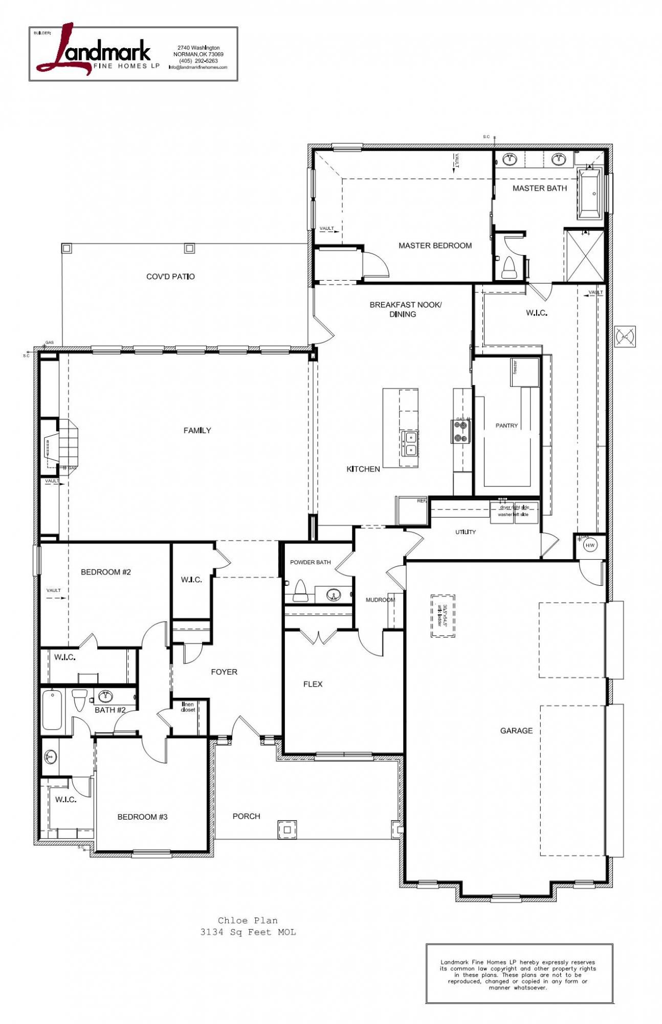 Chloe | Approx SF: 3,134 | Beds: 4 | Full Baths: 2 | Half Baths: 2 | Custom Home Builders OKC