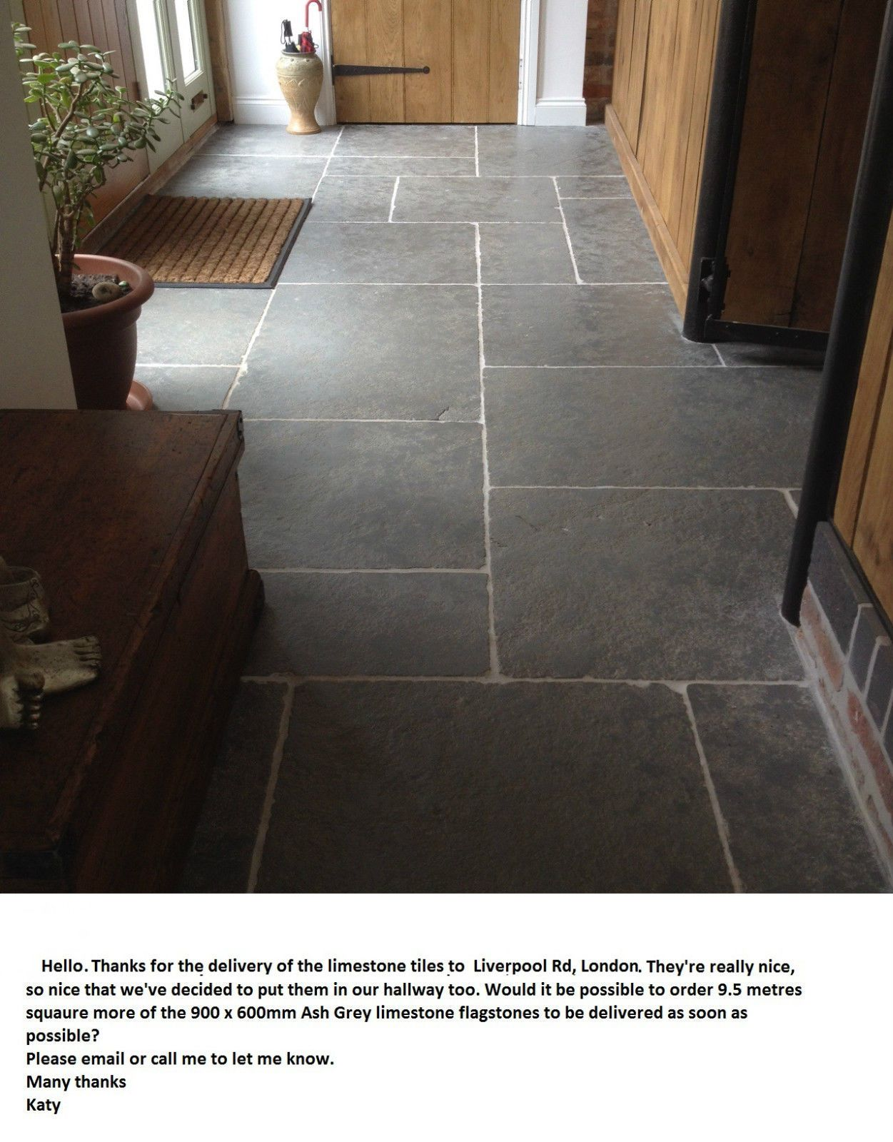Tumbled aged ash grey limestone flagstones tiles slabs modular tumbled aged ash grey limestone flagstones tiles slabs modular pattern 20m2 doublecrazyfo Image collections