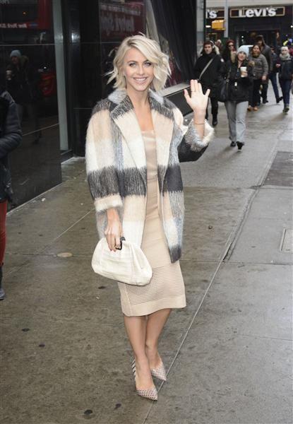 Love Julianne Hough's neutral look. See more celeb street style at Wonderwall.com.