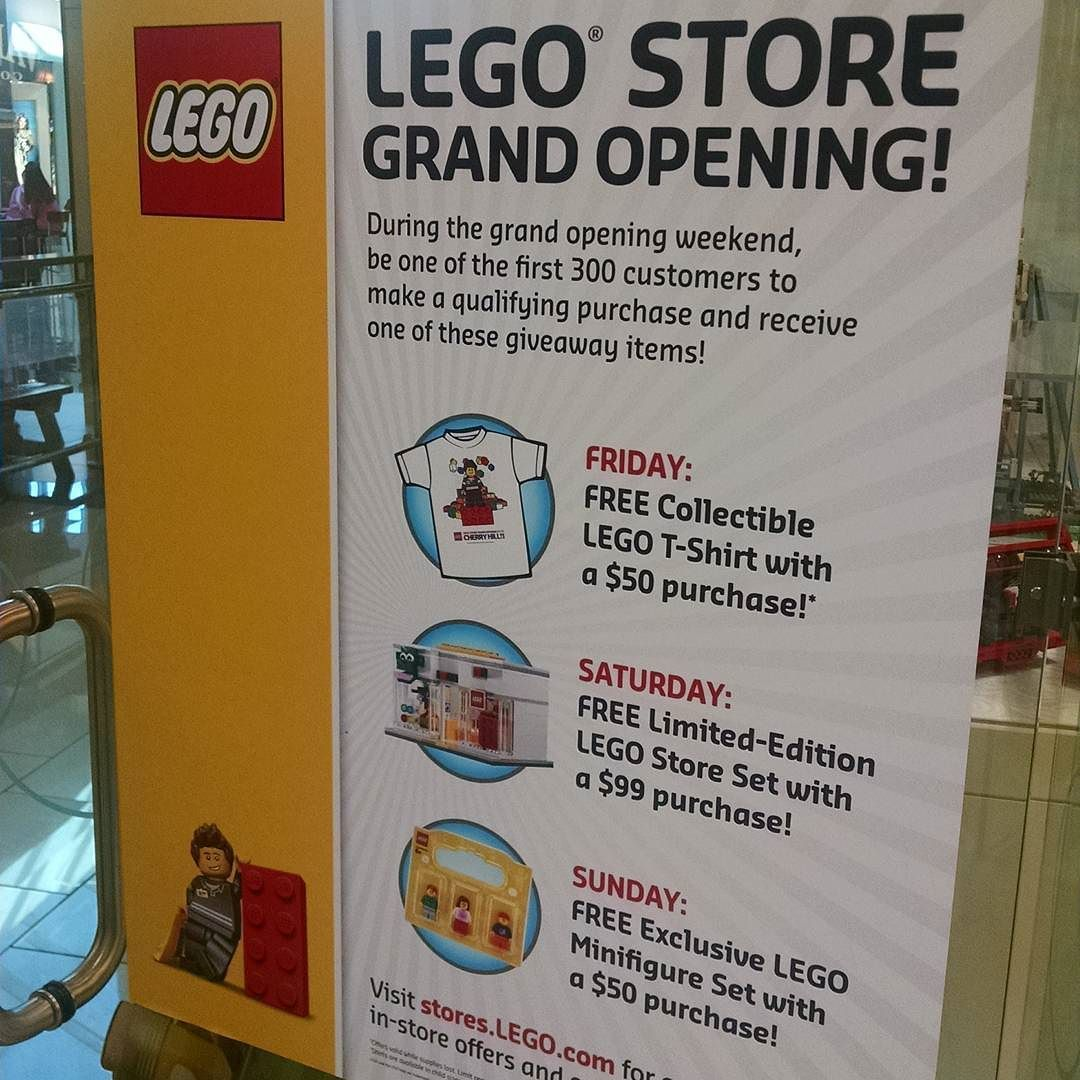 #freestore #Lego #cherryhillmall  Got our free shirt. Guess I'm getting #JokerLand tomorrow to get the #free #LegoPromo store set! Sunday its free #minifigs ! by evansfamilylegoproject