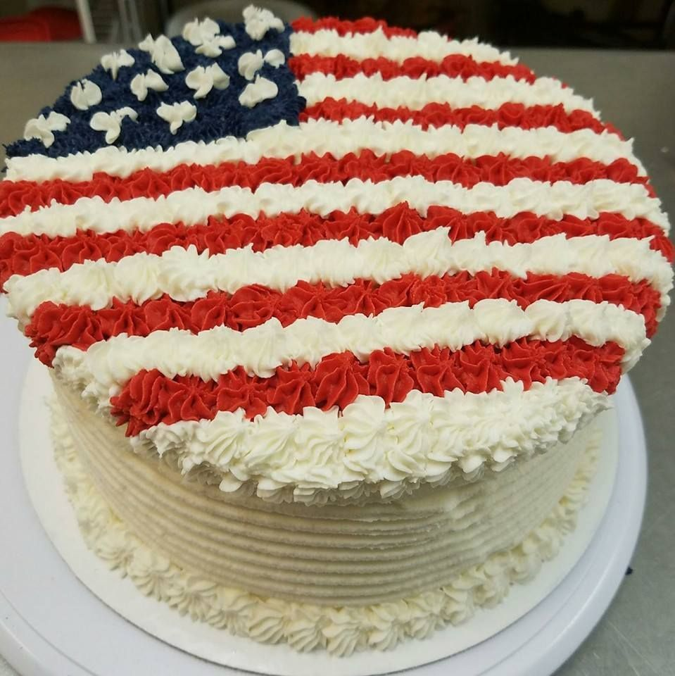 American Flag Round Cake Fourth Of July Cakes Cake For Boyfriend Specialty Cupcakes