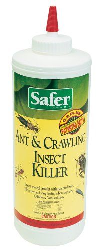 Safer Brand 5168 Diatomaceous Earth Powder Ant Crawling Insect And Bed Bug 7 Ounces 48