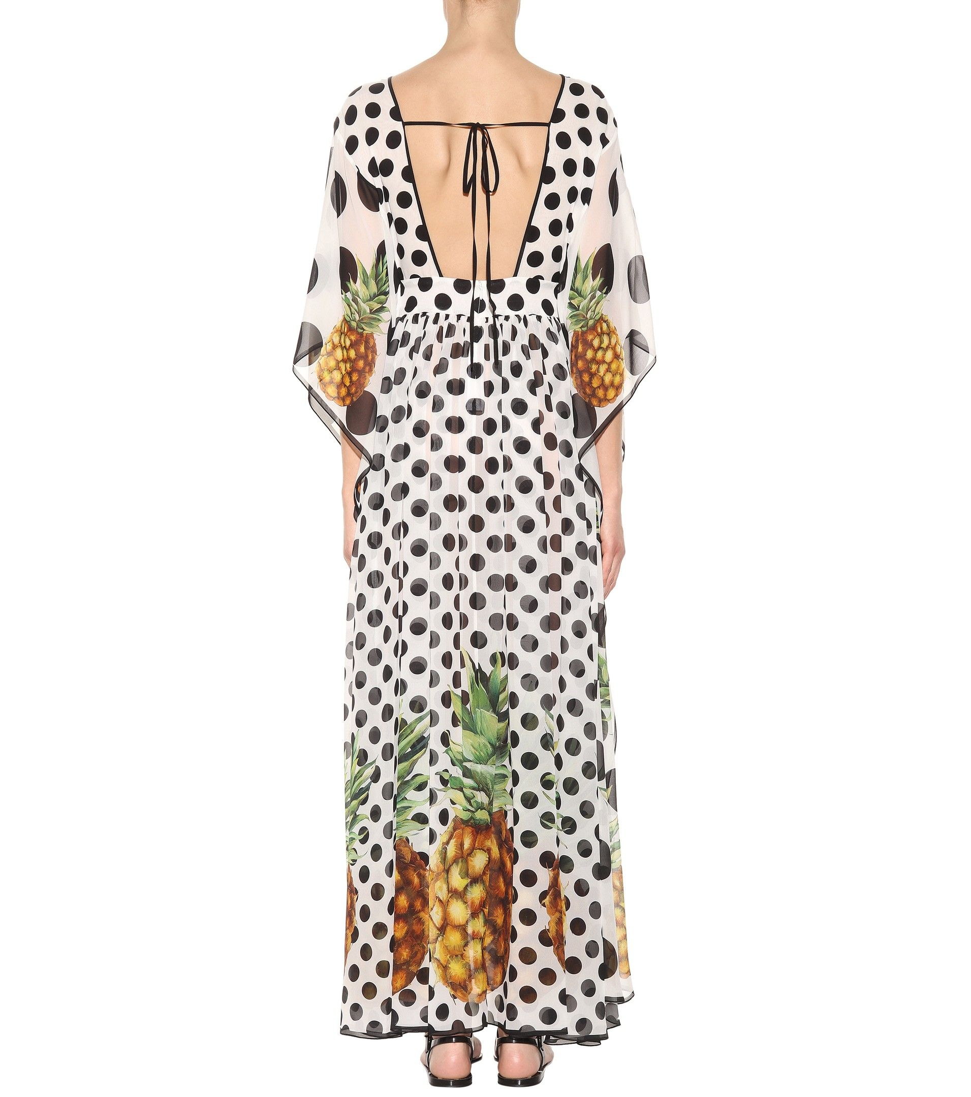 Printed silk kaftan dress dolce u gabbana mytheresa dinorah