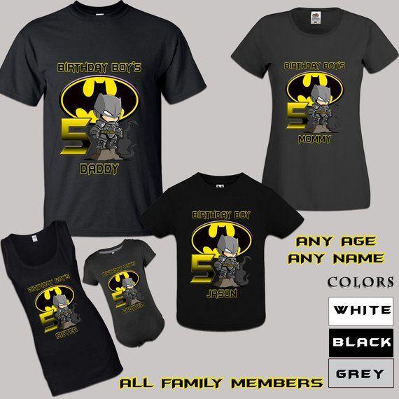 e2b5700a6 Batman Birthday Shirt , Batman Birthday Tshirt , Batman Outfit , Batman  Birthday Party , Batman Fami