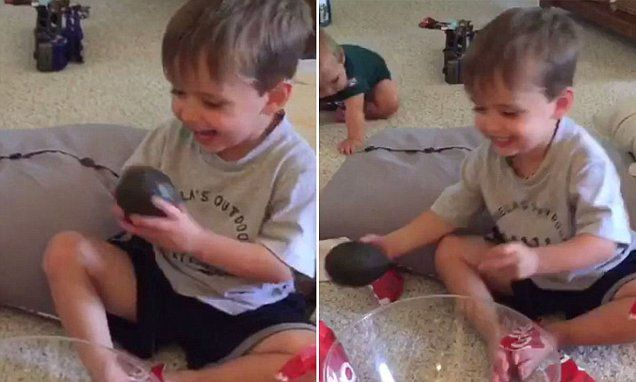 Cuteness overload as father tests son's manners with terrible gift ...